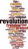 Revolution word cloud — Stock Vector