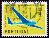 Postage stamp Portugal 1960 Glider — Stock Photo