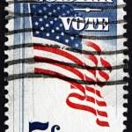 Postage stamp USA 1964 US Flag — Stock Photo #64640481