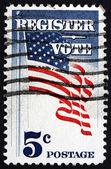 Postage stamp USA 1964 US Flag — Stock Photo