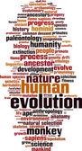 Evolution word cloud — Stock Vector