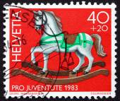 Postage stamp Switzerland 1983 Rocking Horse — Foto de Stock