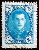 Почтовая марка Иран 1957 Мохаммад Реза Пехлеви — Стоковое фото