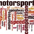 Постер, плакат: Motorsport word cloud