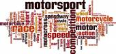 Motorsport word cloud — Stock Vector