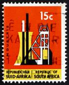 Postage stamp South Africa 1967 Shaft Tower, Industry — Stock Photo