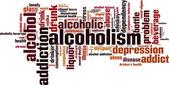 Alcoholism word cloud — Stock Vector