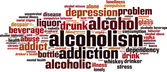 Alcoholism word cloud — Stock Vector