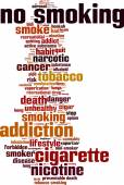 No smoking word cloud — Vettoriale Stock