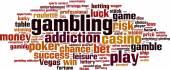 Gambling word cloud — Stock Vector