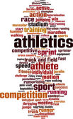 Athletics word cloud — Stock Vector