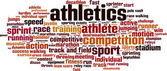 Athletics word cloud — Vector de stock