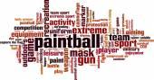 Paintball word cloud — Stockvektor