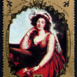 Постер, плакат: Postage stamp Chad 1971 Comtesse du Barry by Vigee Lebrun