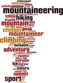 Mountaineering word cloud — Stock Vector