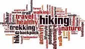 Hiking word cloud — Wektor stockowy