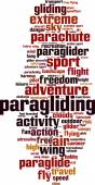Paragliding word cloud — Stock Vector