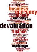 Devaluation word cloud — Stock Vector