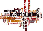 Hyperinflation word cloud — Stock Vector