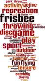 Frisbee word cloud — Wektor stockowy
