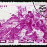 Postage stamp North Korea 1966 Battle of Naphalsan — Stock Photo #67400357