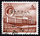 Postage stamp Trinidad and Tobago 1960 Treasury Building — Stock Photo