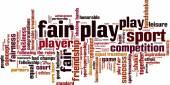 Fair play word cloud — Stock Vector