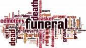Funeral word cloud — Stock Vector