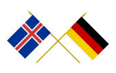 Flags, Germany and Iceland — Stock Photo