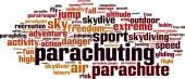 Parachuting word cloud — Stock Vector