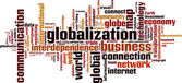Globalization word cloud — Stock Vector