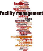 Facility management word cloud — Vector de stock