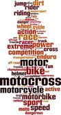 Motocross word cloud — Stock Vector
