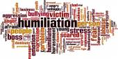Humiliation word cloud — Stock Vector