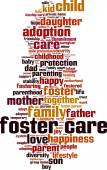 Foster care word cloud — Stock Vector