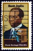 Postage stamp USA 1983 Scott Joplin, Ragtime Composer — Stock Photo