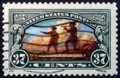 切手アメリカ 2004年ルイス ・ クラーク探検隊 — ストック写真