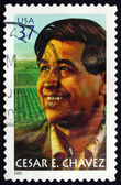 Postage stamp USA 2003 Cesar E. Chavez, Labor Leader — Stock Photo