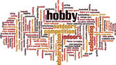 Hobby word cloud — Stock Vector