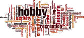 Hobby word cloud — Stock Vector