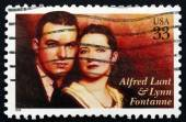 Postage stamp USA 1999 Alfred Lunt and Lynn Fontanne, Actors — Stock Photo