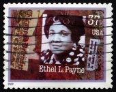Postage stamp USA 2002 Ethel L. Payne, Journalist — Stock Photo