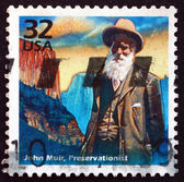 Postage stamp USA 1998 John Muir, naturalist and conservationist — Stock Photo