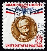 Postage stamp USA 1960 Baron Gustaf Emil Mannerheim — Stock Photo