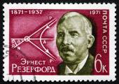 Postage stamp Russia 1971 Ernest Rutherford, British Physicist — Stock Photo