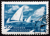 Postage stamp Russia 1949 Regatta, sport — Stock Photo
