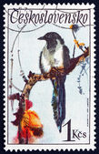 Postage stamp Czechoslovakia 1972 Black-billed Magpie, Bird — Stock Photo