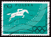 Postage stamp Poland 1960 Steeplechase — Stock Photo