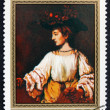 Postage stamp Mongolia 1981 Hendrickje like Flora, by Rembrandt — Stock Photo #74240929
