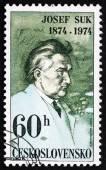 Postage stamp Czechoslovakia 1974 Josef Suk, Czech Composer — Stock Photo